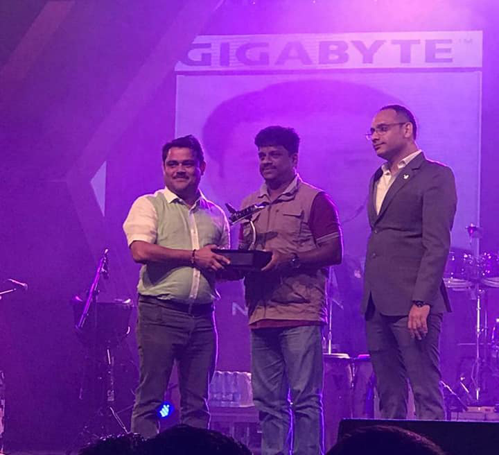 AWARD FROM GIGABYTE – BEST PERFORMER SOUTH INDIA