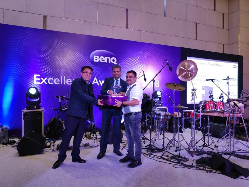 AWARD FROM BENQ – HIGHEST GROWTH SOUTH INDIA