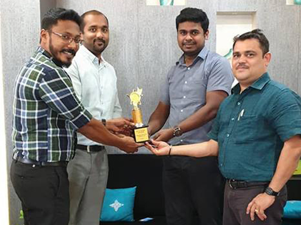 AWARD FROM HP PRINTER – FOR SOUTH INDIAN BEST AWARD