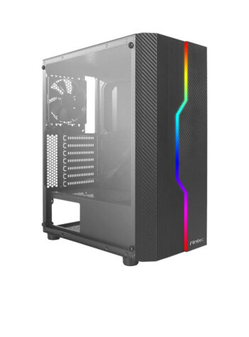 Antec NX230 NX Series-Mid Tower Gaming Cabinet Computer case with RGB Front Supports ATX, M-ATX, ITX Motherboard with Transparent Side Panel,1 x 120 mm Fan in Rear