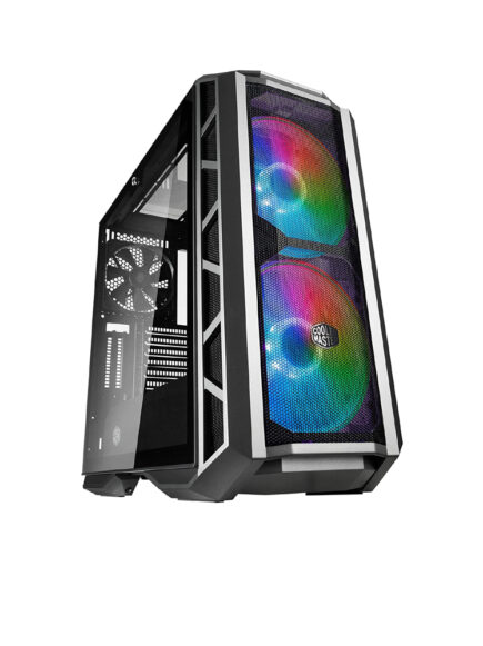 Cooler Master MasterCase H500P Mesh ARGB ATX Mid-Tower w/Front Mesh, 2X 200mm ARGB Fans, Tempered Glass Side Panel and 2X Vertical GPU Card PCI Slots (MCM-H500P-MGNN-S11)