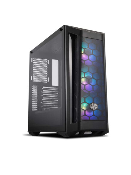 Cooler Master MasterBox MB511 ARGB MID-Tower ATX Airflow PC case with Three pre-Installed ARGB Fans, a Fine Mesh Front Panel, Mesh Side Intakes, Tempered Glass Panel (MCB-B511D-KGNN-RGA)